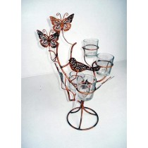 Antique Butterfly Design Votive Candle Holder