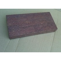 Copper Antique Wooden Box With Copper Metal Embossed