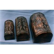 5'' x 7'' Medium Antique Dark Brown Handicraft Decorate Box