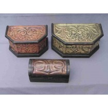 Large Antique Decorative Curved Pet Urn Box