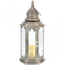 Antique Silver Metal Lantern