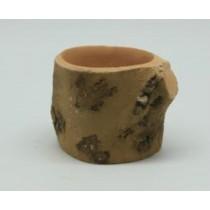 Natural Wood Finish 11 Cm Fiberglass Pots