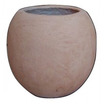Artificial Light Brown Sandstone Round Flowerpot
