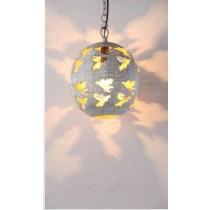Ball Lamp with Angel cutting Etch
