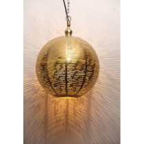 Ball shaped with line cut etching  hanging lamp