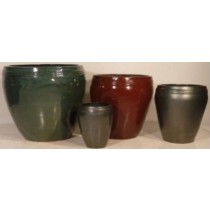 High Quality Dark Green Glazed Ceramic Pot