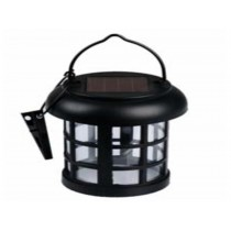 Black colored portable solar light