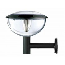 Black colored Solar wall light