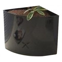 Black Finish Plastic Non - Self Watering Planter