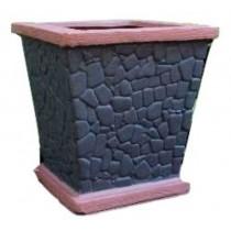 Black Pebble Design 16 Inch Fiberglass Planter