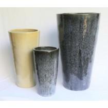 Blossom Black 55cm Ceramic Planter