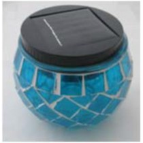 Blue-solar pot mosaic lights