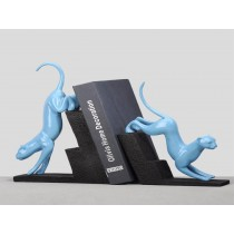 Blue colored animal bookends