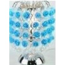 Blue Metal Rose Fragrance Lamp