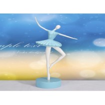 Blue resin ballet dancing girl craft