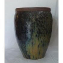 Blue With Yellow Earthenware Ceramic Planter