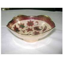 Bowl with Flowers Design 6""