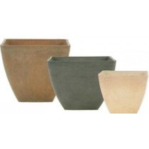 Brown 20cm Height Stone Planters