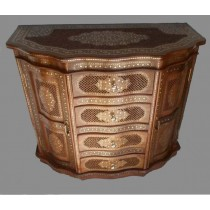 Sheesham Wood Cabinet with Brass Work-60""