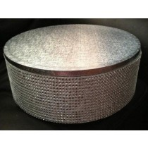 Bowl shape with dots design Aluminum Cake Stand