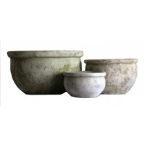 Cement 18cm Height Round Planters