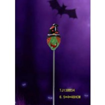 ceramic and stainless steel material decorative solar light for halloween