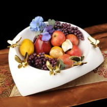 Ceramic butterfly fruit bowl decoration