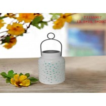 Ceramic Hanging Solar Lanterns (small white)