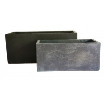Charcoal Finish Rectangular Cement Planter