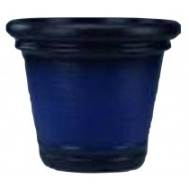 Classic Design Blue Finish 15 Inch Height Plastic Planter