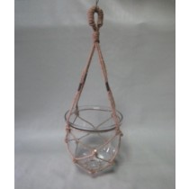 Classic Hanging Clear Glass Candle Holder