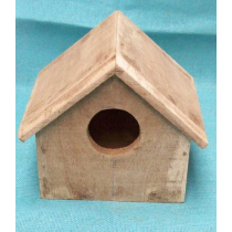 Colored-Bird House With Plain Roof