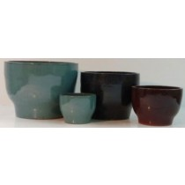 Opal Blue Height 8'' Glazed Ceramic Pot