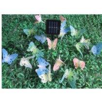 coloured Butterflies solar garden lights