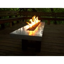 Contemporary Bronze Color Table Style Fire Pit