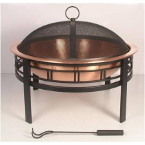 Copper Bowl With Black Decorative Stand And Jali
