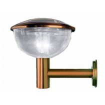 Copper colored Solar wall light