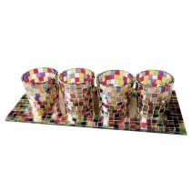 Craft work Multicolored T-Light Holder