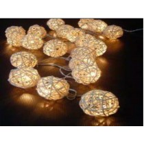 Cream colored festoon string lights