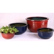 Modern Red Ht 8'' Ceramic Glazed Planter