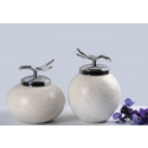 Creative silvery ceramic-pot ornaments