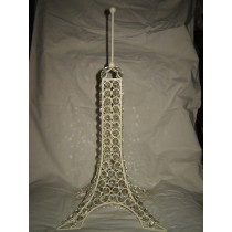 Metal With Crystal Diamond Beads Eiffel Tower Decoration Item