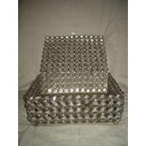 "10'' x 10"" Crystal Beads jewellery box"