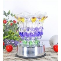 Crystal Purple Aroma Lamp with LED