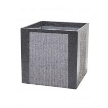 Cube Shaped Black 40cm Stone Planter