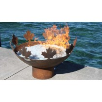 Cutout Design Durable Large Steel Fire Pit Bowl