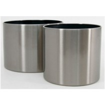 Classic Cylinder Shaped 16 Inch Metal Planter