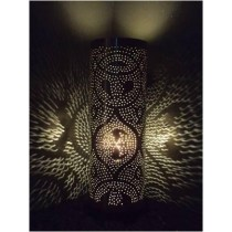 "Cylindrical Cut-work Table Lamps,  Size-5"" X 5"" X 15"""