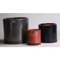 Cylindrical Shape Ht 7'' Ceramic Planter