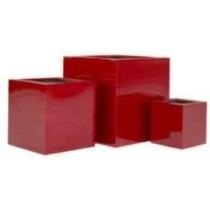 Red Brown Medium Fiberglass Planters